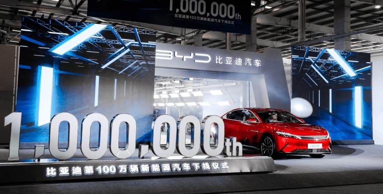 BYD saca al mercado su vehículo eléctrico número 'un millón'