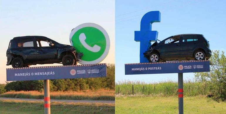 """""""Manejas o mensajeas"""", la campaña que busca evitar el uso del celular mientras conduces"""