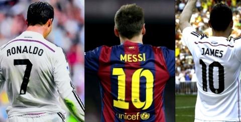 Cristiano Ronaldo, Messi y James Rodríguez