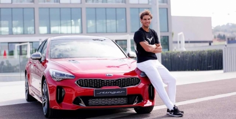 Kia Stinger 2018, el nuevo carro del tenista Rafael Nadal