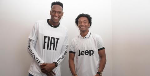 Yerry Mina y Juan Guillermo Cuadrado: embajadores de Fiat y Jeep